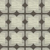 Orla Kiely Flower Tile Brown Wallpaper