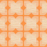 Orla Kiely Flower Tile Orange Wallpaper