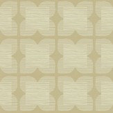 Orla Kiely Flower Tile Beige Wallpaper