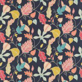 Harlequin Flavia Indigo / Red / Aqua / Yellow Fabric