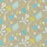 Harlequin Flavia Turquoise / Beige / Lime Fabric