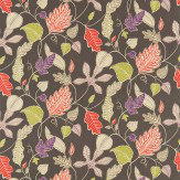 Harlequin Flavia Grey / Red / Purple / Lime Fabric