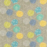 Harlequin Orsina Blue / Green / Yellow / Stone Fabric - Product code: 120123