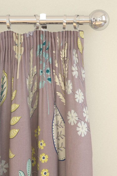 Harlequin Zosa Heather / Seagrass / Yellow Curtains