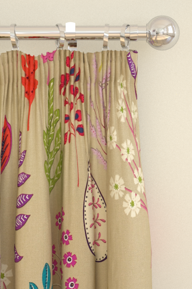 Harlequin Zosa Beige / Multi Curtains