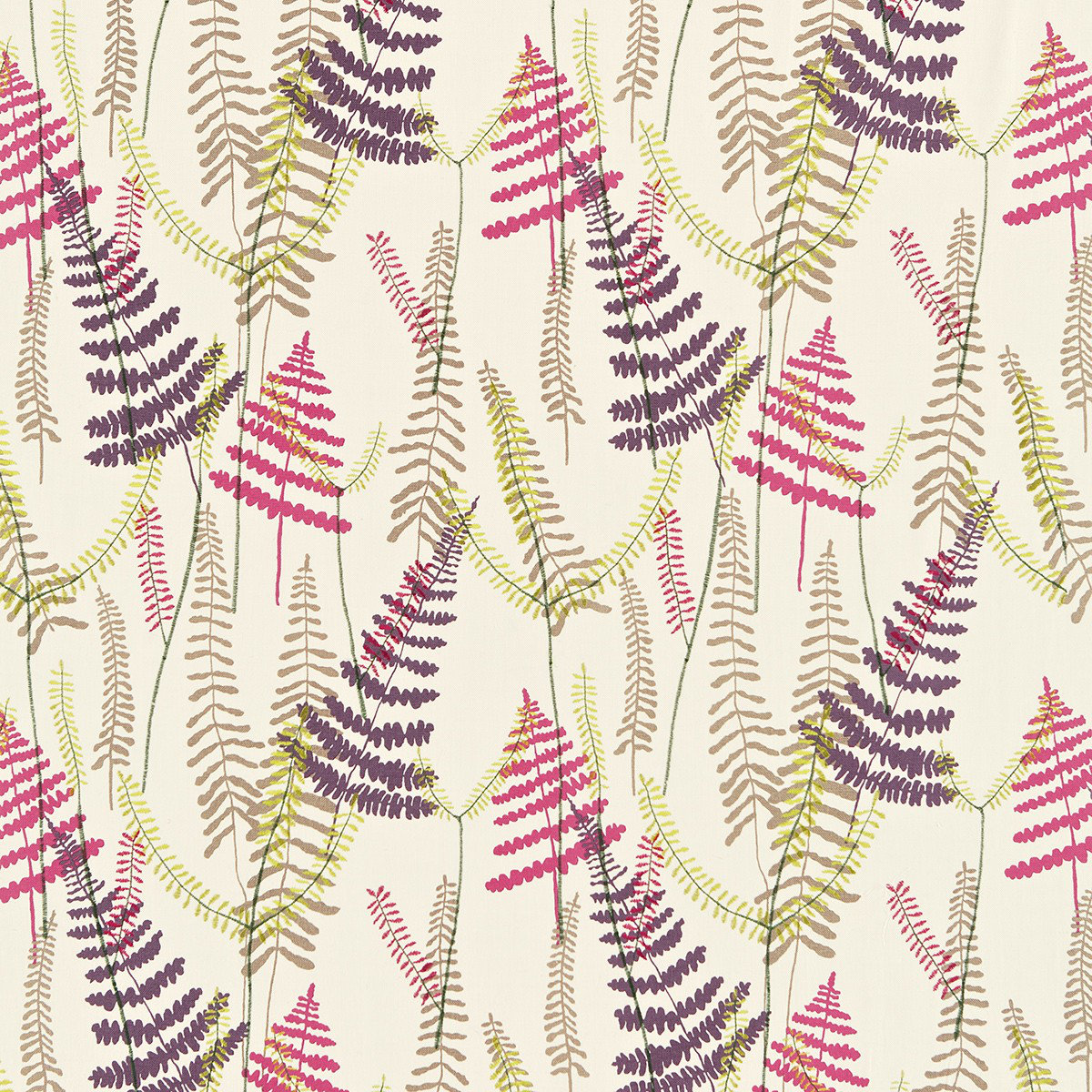 Athryum By Scion Pink Purple Lime Fabric 130355