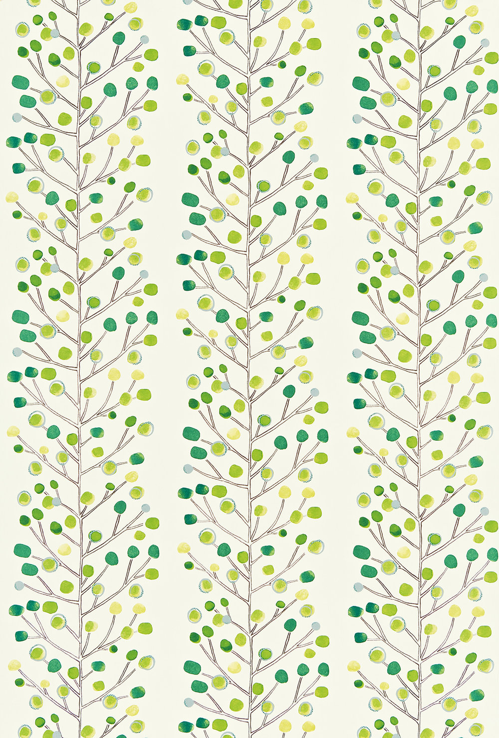 Berry Tree By Scion Green Fabric Wallpaper Direct