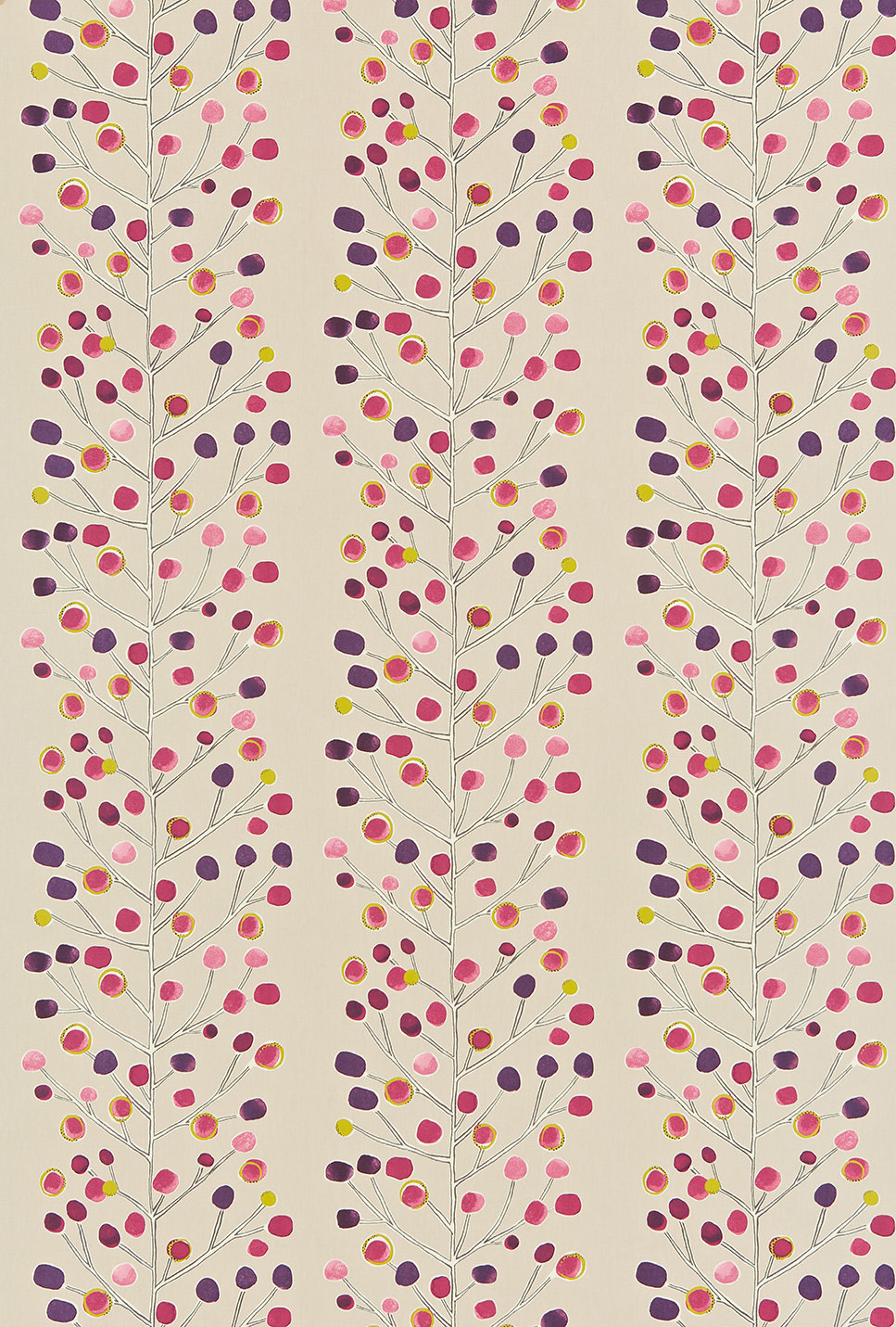 Scion Berry Tree Pink / Purple / Lime Fabric - Product code: 120053