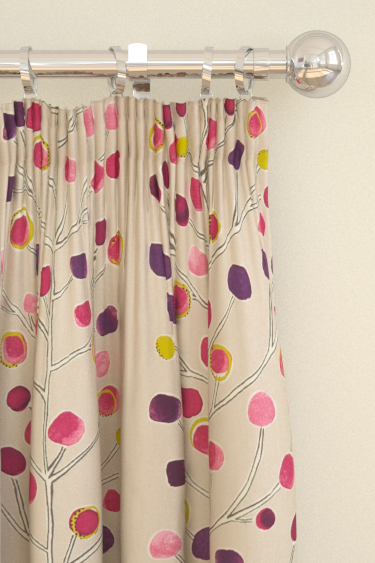 Scion Berry Tree Pink / Purple / Lime Curtains - Product code: 120053