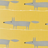 Scion Mr Fox Yellow Fabric - Product code: 120070