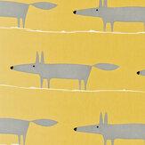 Scion Mr Fox Yellow Fabric