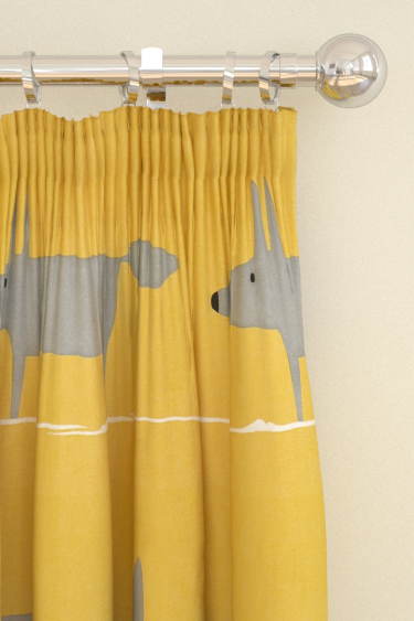 Scion Mr Fox Yellow Curtains - Product code: 120070