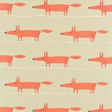 Scion Mr Fox Paprika Fabric