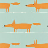 Scion Mr Fox Sky / Orange Fabric - Product code: 120072