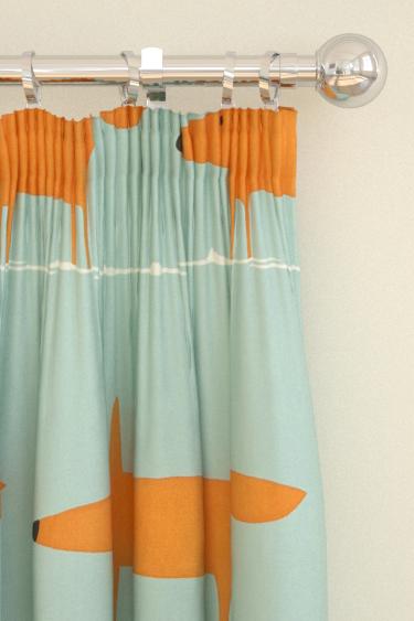 Scion Mr Fox Sky / Orange Curtains - Product code: 120072