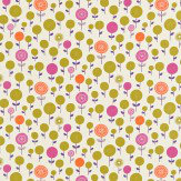 Scion Lollipop Flower Pink / Orange / Olive / Purple Fabric - Product code: 120075