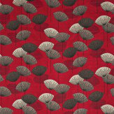 Sanderson Dandelion Clocks Red Fabric - Product code: DOPNDA201