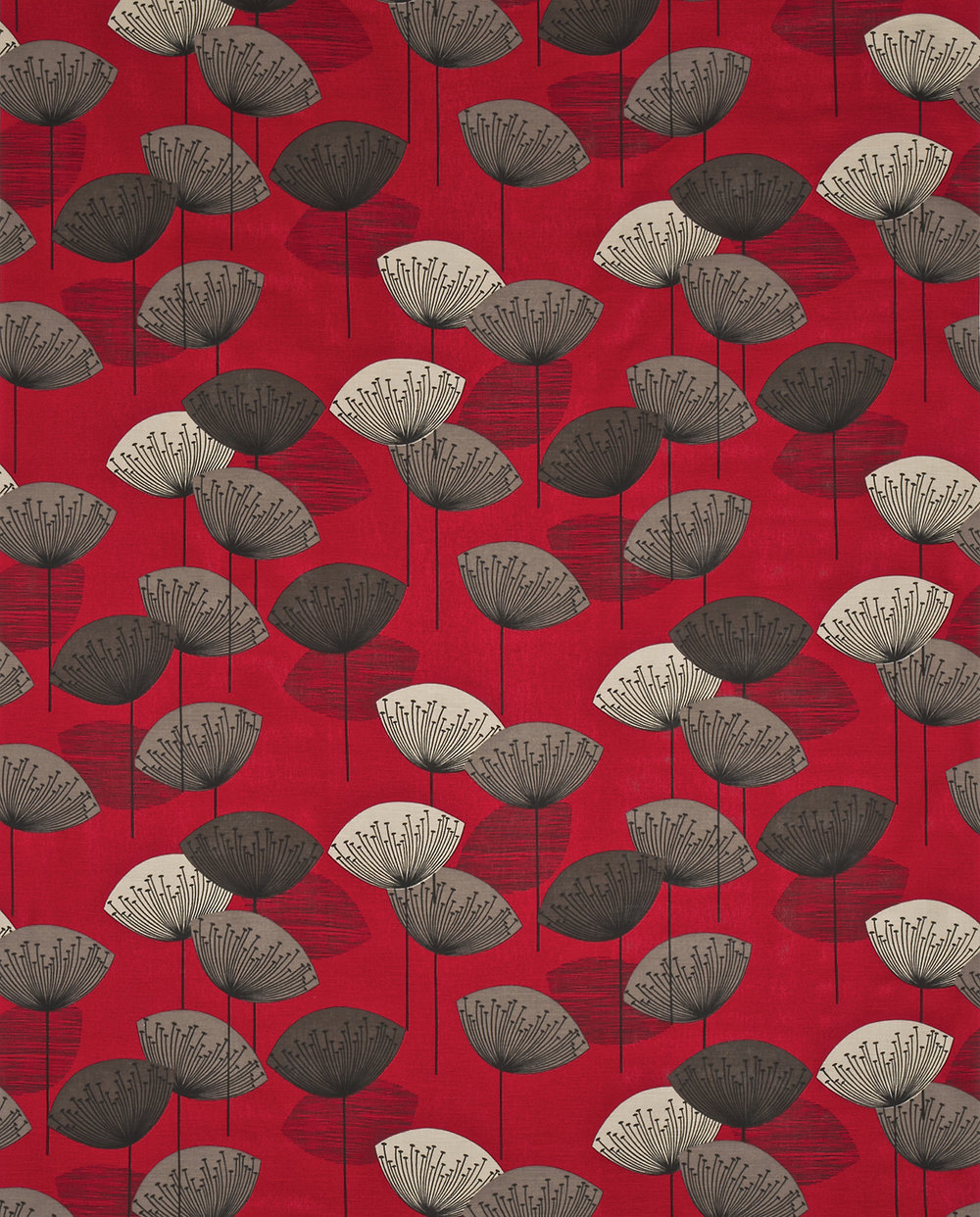Dandelion clocks by sanderson red wallpaper direct for Wallpaper direct
