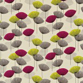 Sanderson Dandelion Clocks Blackcurrant Fabric