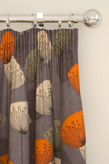 Dandelion Clocks Curtains By Sanderson Slate Fabric