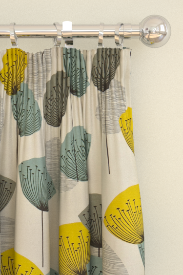 Dandelion Clocks Curtains By Sanderson Blue Yellow