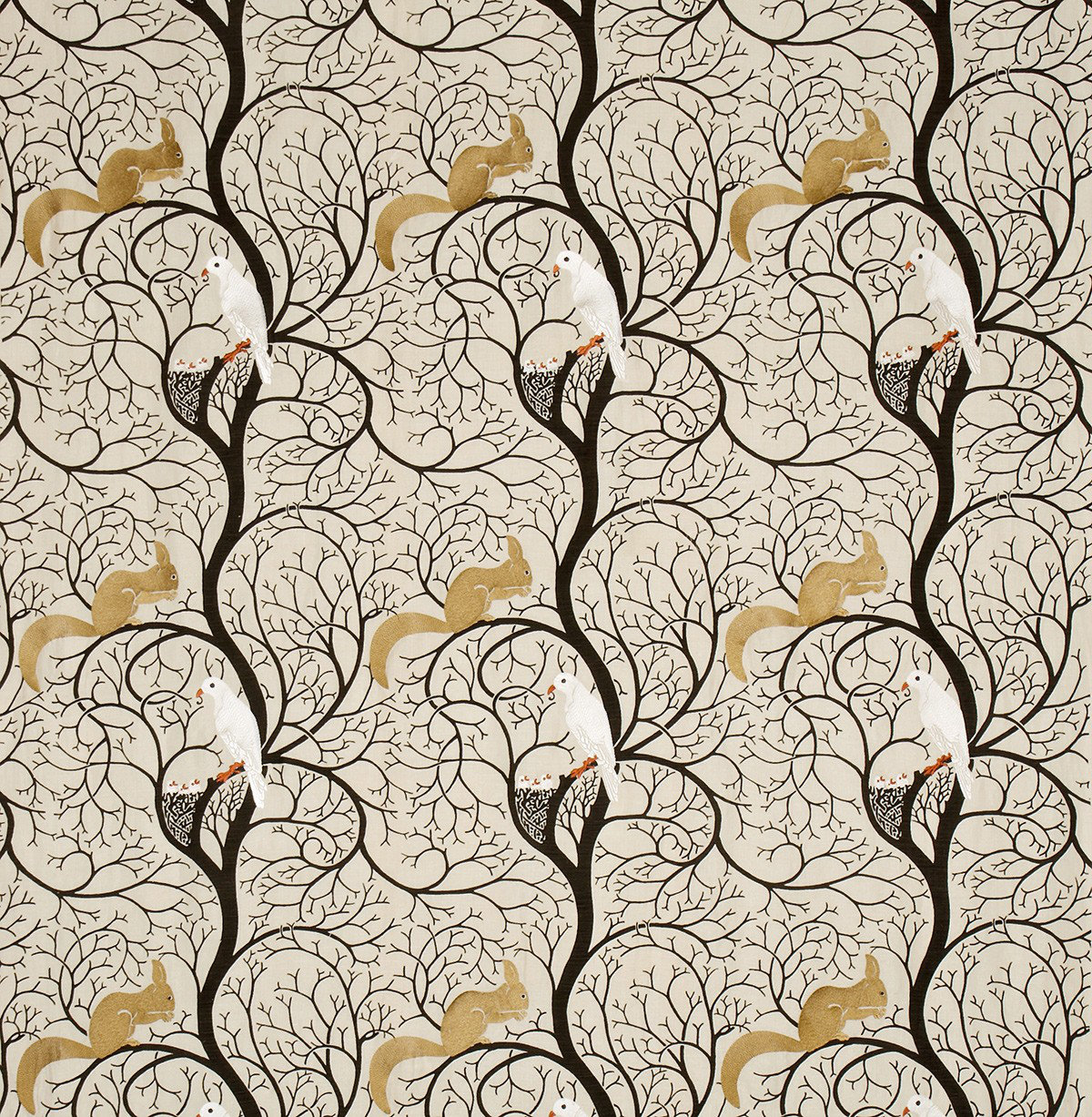 Squirrel Amp Dove By Sanderson Wallpaper Direct