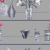 Louise Body Shelf Pink Pink / Grey Wallpaper