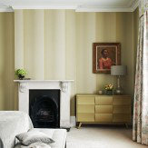 Zoffany Folio Linen Beige / Lime Wallpaper