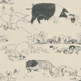 Belynda Sharples Pig Black / Beige Wallpaper - Product code: AOW-PIG 04