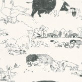 Belynda Sharples Pig Black / White Wallpaper