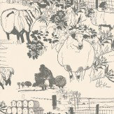 Belynda Sharples Sheep Grey / Off White Wallpaper