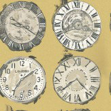 Prestigious Time Yellow / Grey Wallpaper