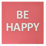 Arthouse Love Life, Be Happy 3D Canvases Art - Product code: 002816