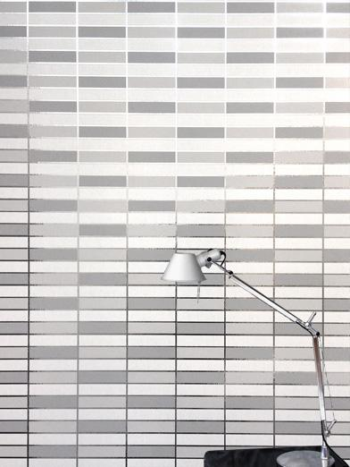 Soda Wallpaper - White / Silver - by Erica Wakerly