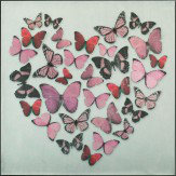 Arthouse Butterfly Love Pink Superfoil Canvas Art