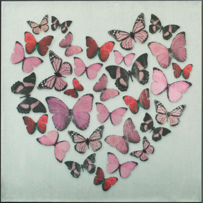 Arthouse Art Butterfly Love Pink Superfoil Canvas 002831