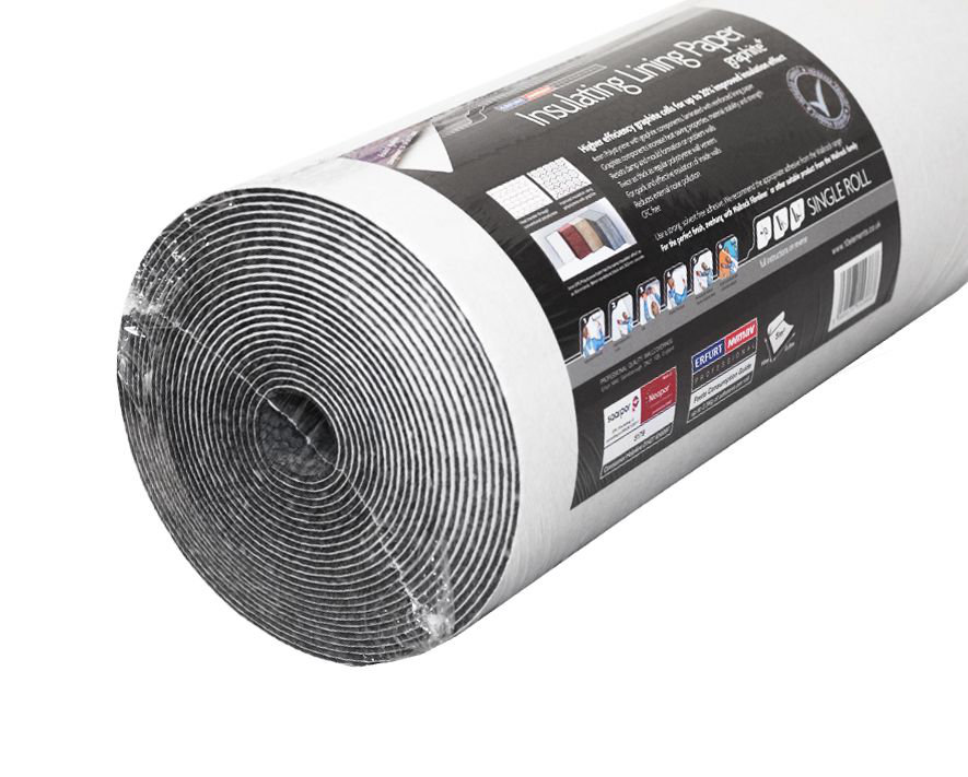 Insulating Lining Graphite + 4mm Wallpaper - by Wallrock