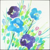 Arthouse Flower Frenzy Aqua Lacquer Canvas Art - Product code: 002837