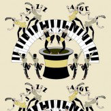 Art Decor Designs Jazz Age 01Y Black / Pale Lemon Wallpaper