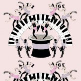 Art Decor Designs Jazz Age 03P Pale Pink / Black Wallpaper