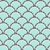 Art Decor Designs Jazz Age 02G Comp Blue Green / Black Wallpaper