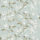G P & J Baker Apple Blossom Aqua / Gilver Wallpaper - Product code: BW45039/2
