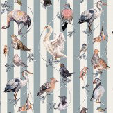 House Of Hackney Flights of Fancy  Grey Stripe Wallpaper