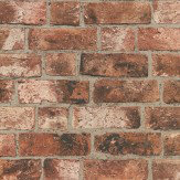 Albany Distinctive Brick Red Wallpaper