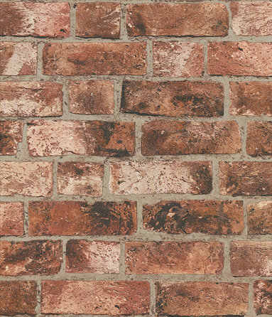 Albany Distinctive Brick Red Wallpaper - Product code: FD31045