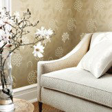 Anna French Barafundle Champagne / Metallic Gold Wallpaper