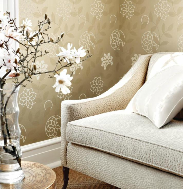 Anna French Barafundle Champagne / Metallic Gold Wallpaper main image