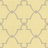 Anna French Lucian Yellow / Metallic Silver Wallpaper