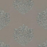 Anna French Arran Metallic / Dark Taupe Wallpaper