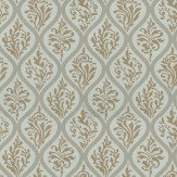 Anna French Francis Aqua / Gold Wallpaper
